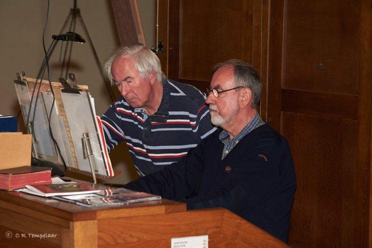 Opperste concentratie bij speler Jan en registrant Lambert